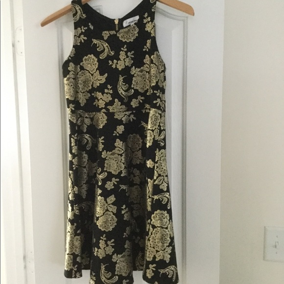nickie lew Other - Nickie Lew Girls black and gold dress size 16, NWT
